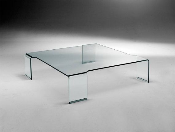 Curved glass small table Box