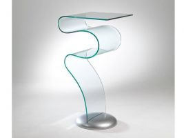 Entrance console table in curved crystal Naga