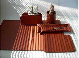 Desk Set in real Italian leather
