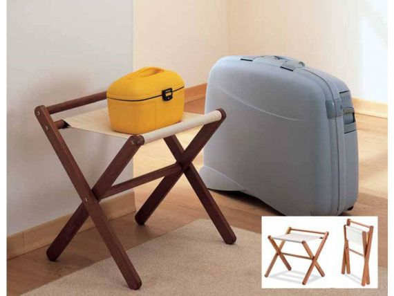 Fabric luggage clothes rack
