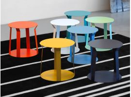 Round Metal Small Table Freeline 1