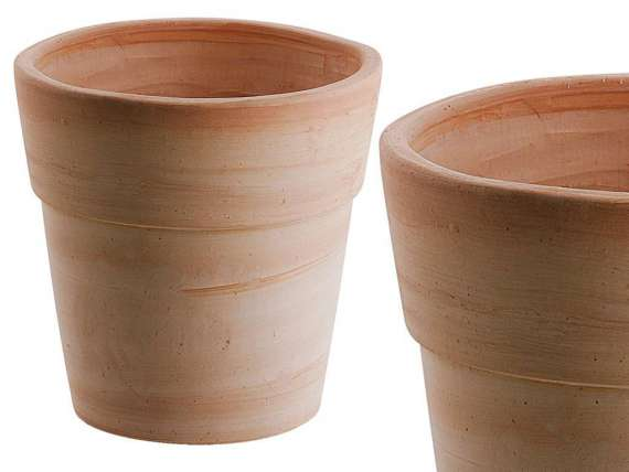 Vaso bordato standard 016 vaso in terracotta