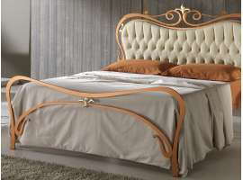 Wrought iron bed with padding Aida