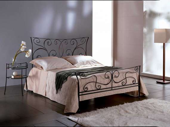 Wrought iron bed Ermione