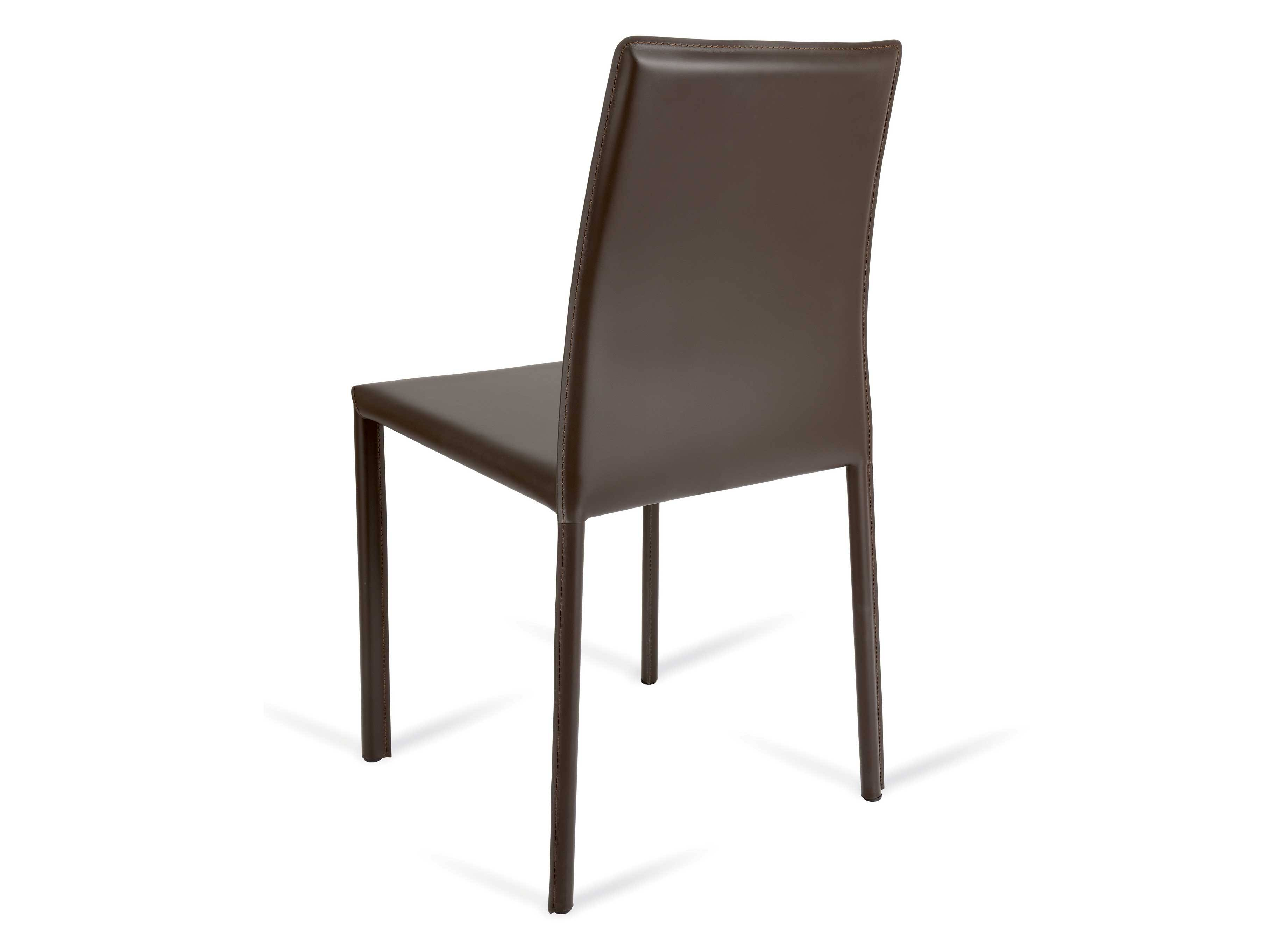 Cortina Low chair in bonded leather or genuine leather