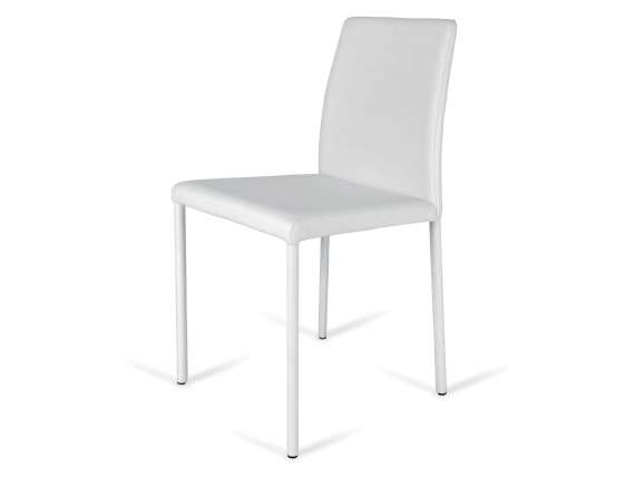 Cortina High chair in leather or eco-leather