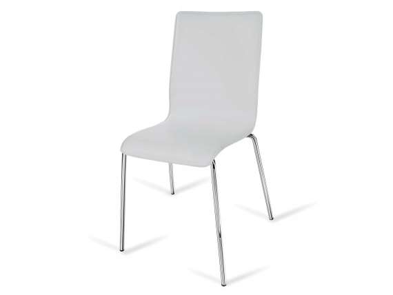 Cortina High chair in leather or artificial leather