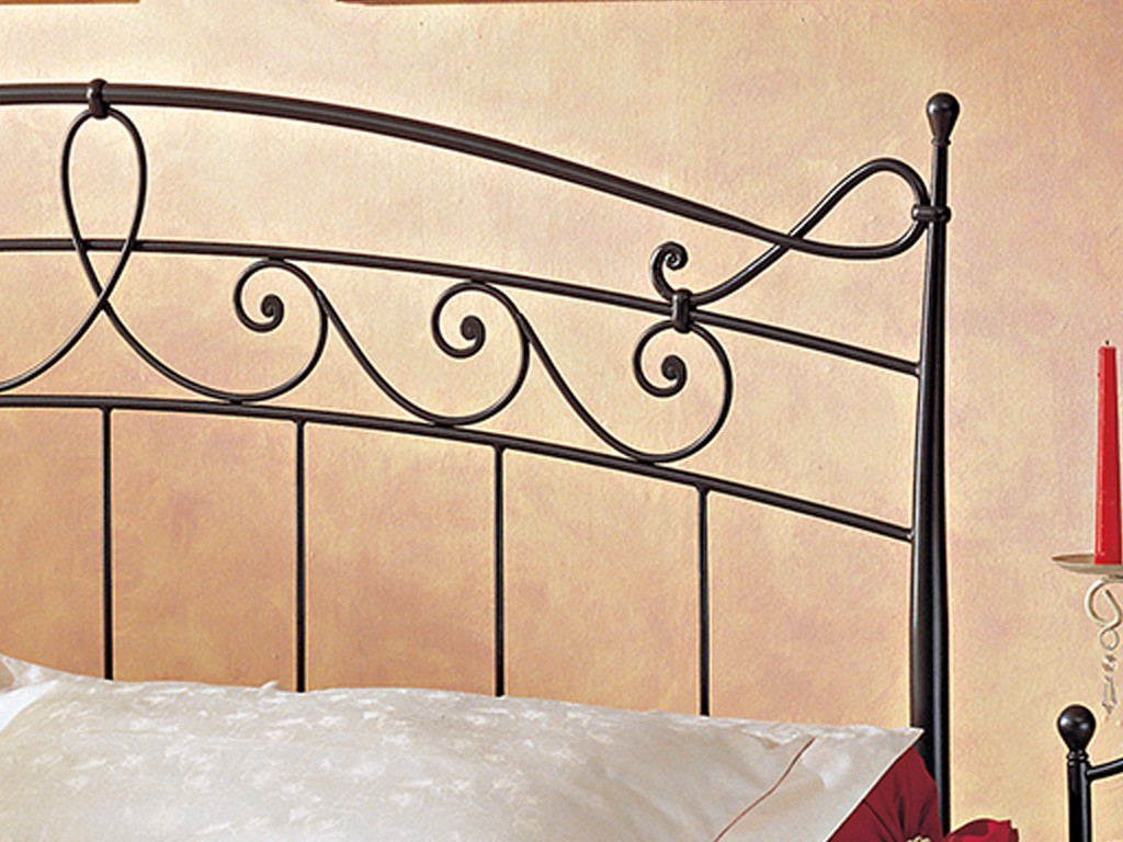 Armida wrought iron bed for Wrought iron bed