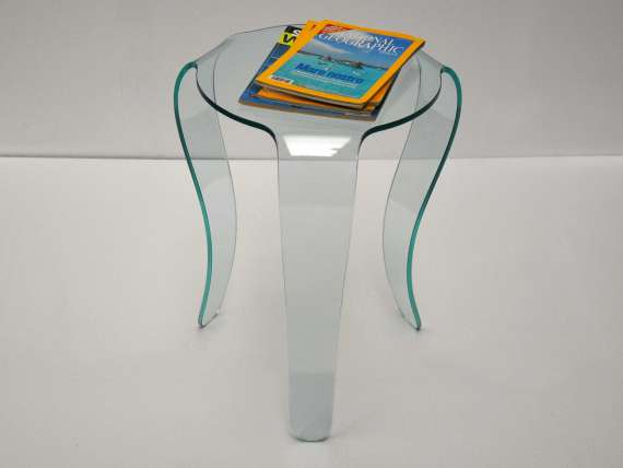 Coffee table in curved glass for the living room Jellyfish
