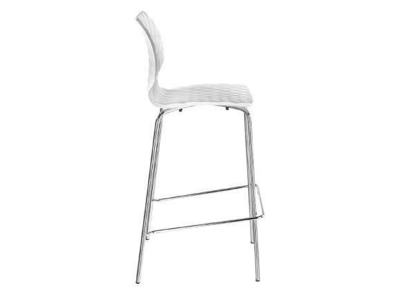 Uni 378 Stool 4 legs in steel