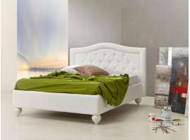 Cocò upholstered bed with Capitonnè