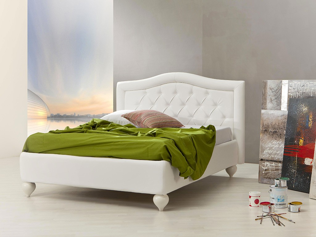 Coc upholstered bed with capitonn - Wit bed capitonne ...