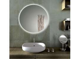 SOLE round bathroom mirror with LED