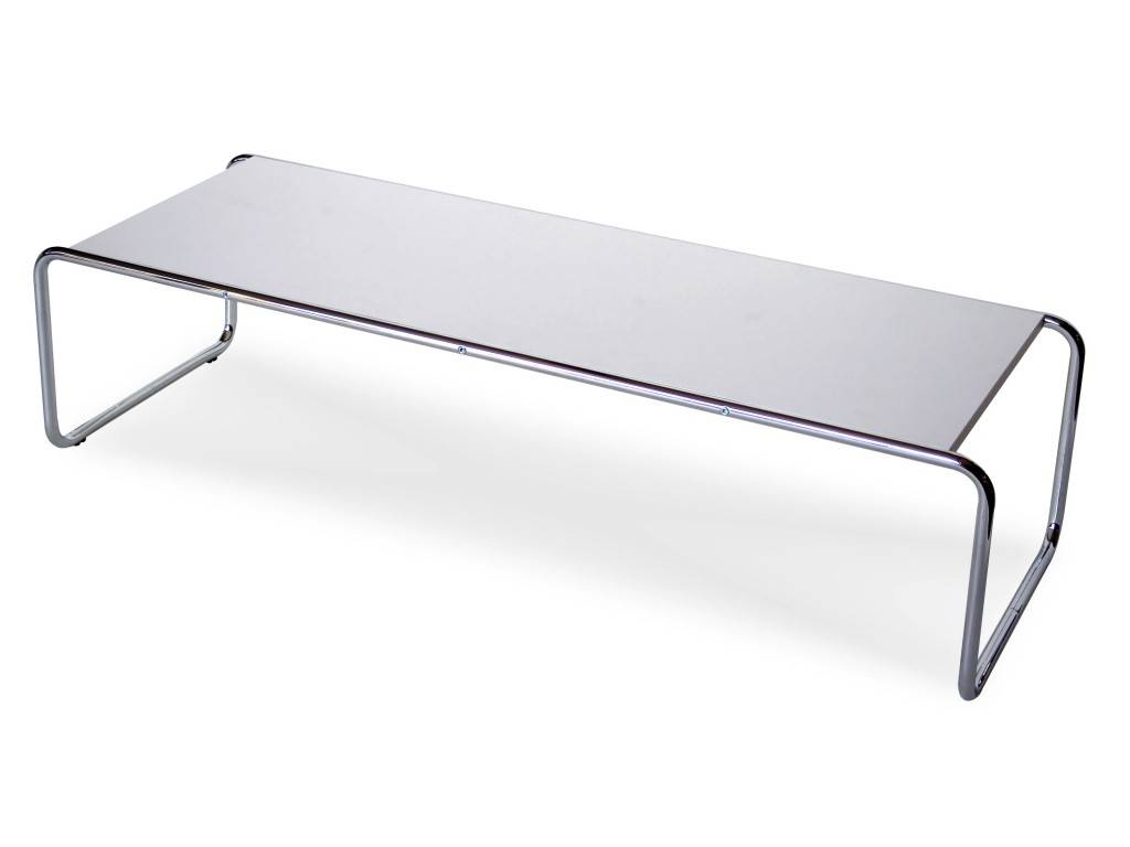 Laccio Marcel Breuer Metal Small Table With Laminated Top