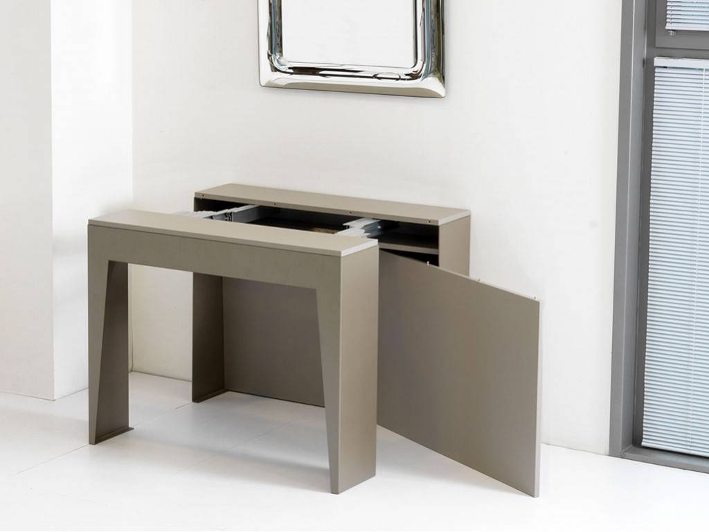 Table console rallonges en m tal marvel for Table a rallonge console