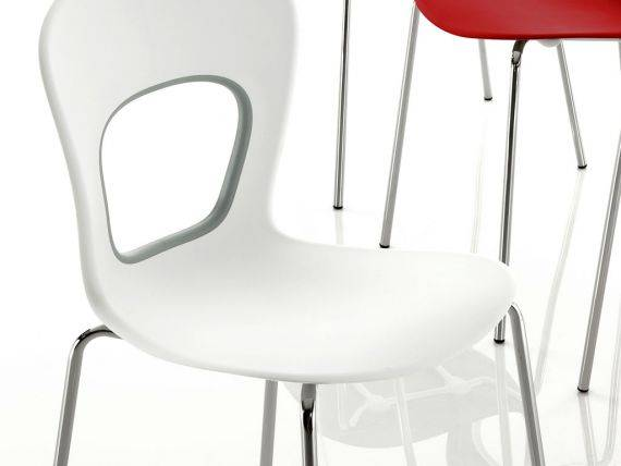 BLOG plastic chair in technopolymer with metal frame