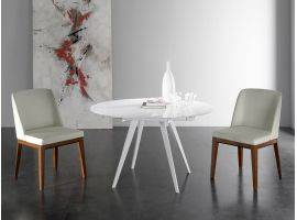 ARGO extendible round table in glass