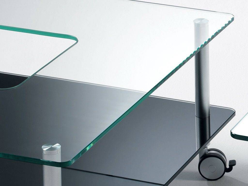 Roulette pour table basse en verre - Table de salon en verre ikea ...