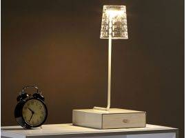 LED table lamp with drawer INBOX