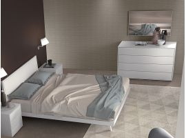 Bedside table with 4 drawers Lineare