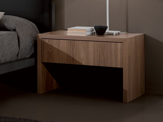Small bedside table with 1 drawer Spazio