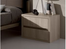 Small bedside table with 2 drawers Spazio