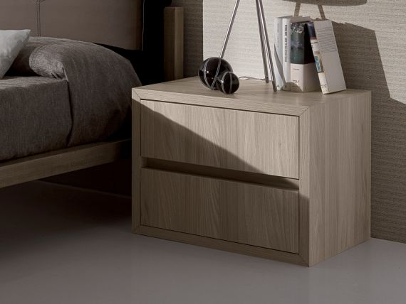 Bedside table with 2 drawers Lineare