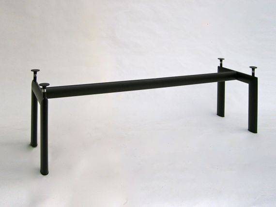 Table Le Corbusier in metal and glass