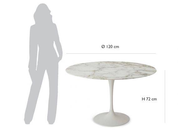 Table ronde Tulip Saarinen diamètre 120