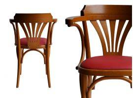 Chair Bistrot 600 SI in wood and faux leather