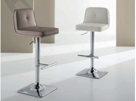 Stool in faux leather Tracy
