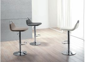 Power faux leather stool