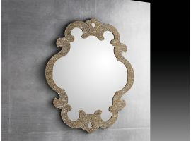Mirror in crushed glass grit Artemisia
