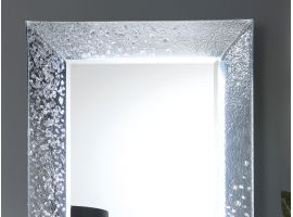 Mirror in crushed glass grit Cometa