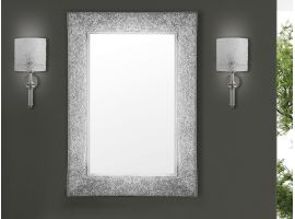 Mirror in crushed glass grit Iride