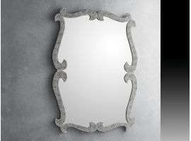 Mirror in crushed glass grit Lirica