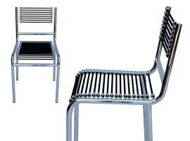 René Herbst 301 chair with metal structure with elastic strings