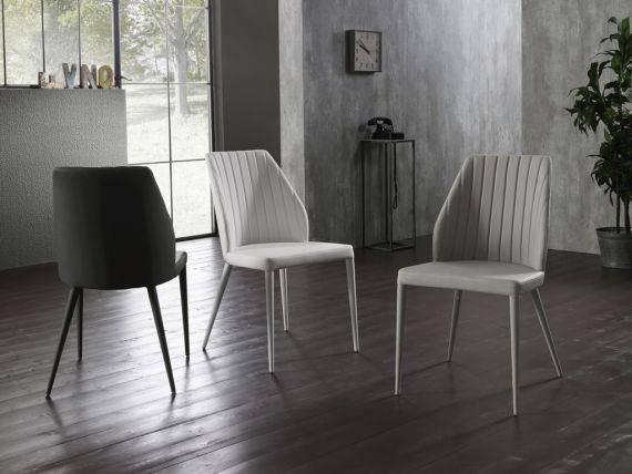 Chair coated in ecoleather Cast