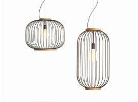 Pendant lamps in steel rod CHAPLIN