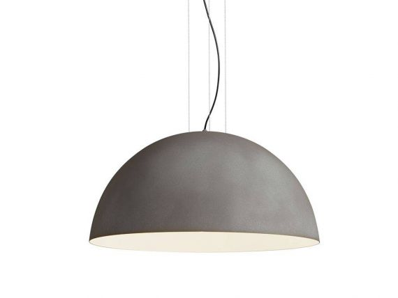 Ceiling lamp in steel Rugiada