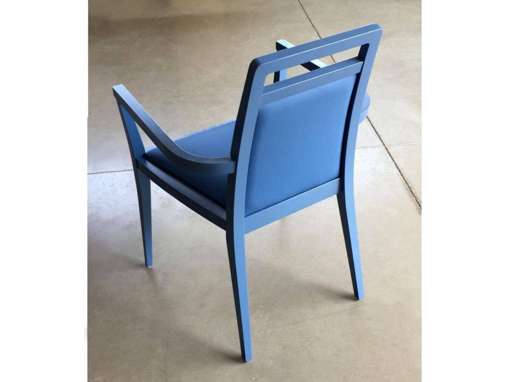 Grace small modern wooden armchair for Small contemporary armchairs