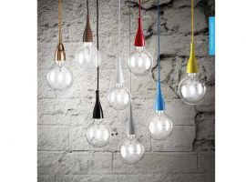 Minimal SP1 hanging lamp in colored or chromed metal