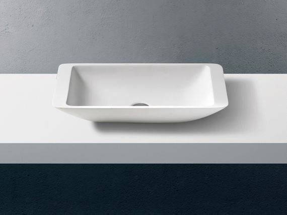 Rectangular countertop washbasin Auditorium