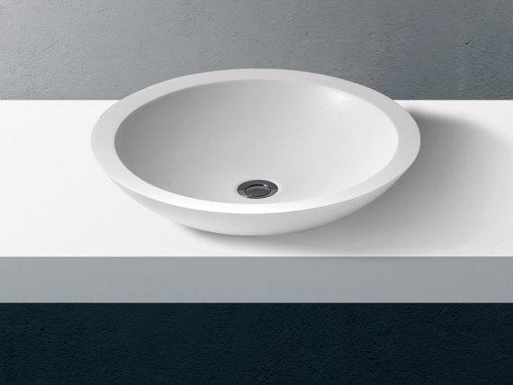 Round countertop washbasin Oculus