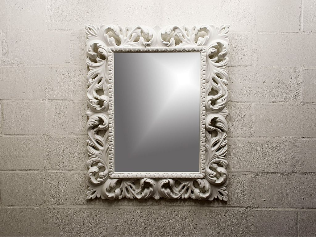 Miroir rectangulaire en style baroque vittoria for Miroir baroque rectangulaire