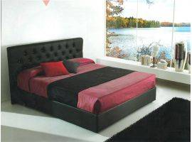 Faux leather upholstered bed Aurora