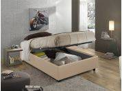 Sommier 120 faux leather upholstered bed