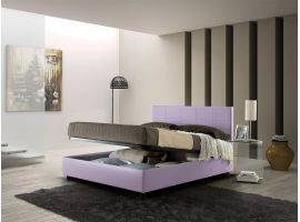 Alison upholstered double bed with container