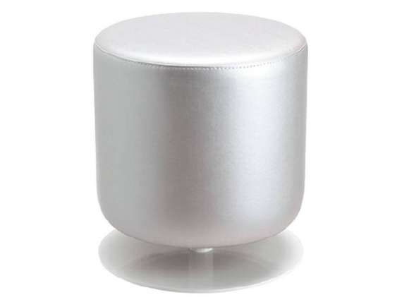 Fat swivel pouf in steel