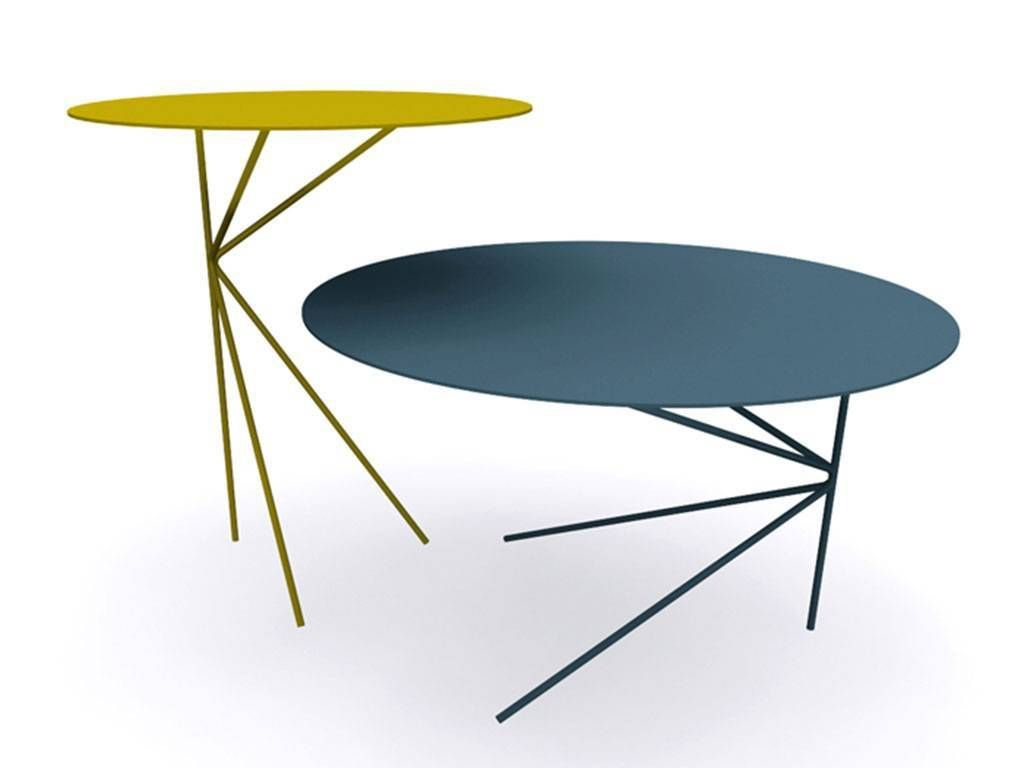 Round Metal Coffee Table Twin